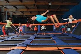 $15 For 60 Minutes Of Jump Time For 2 (Reg. $30) at Sky Zone Trampoline Park, plus 9.0% Cash Back from Ebates.
