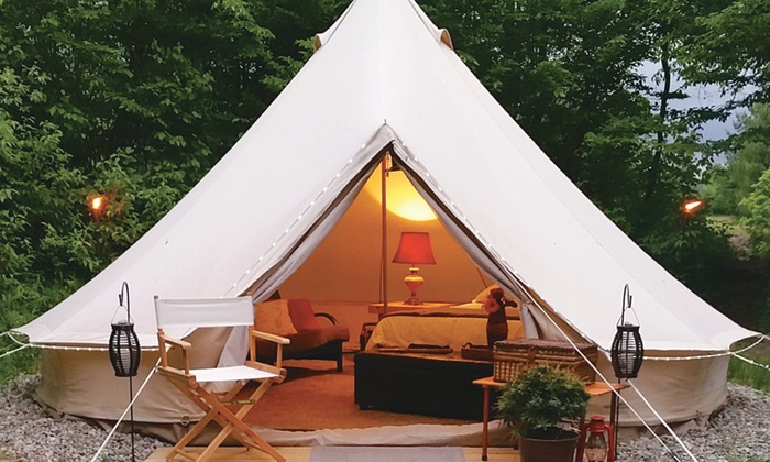 $225 For A 2-Night Stay At Lake George Escape C&ground In A Luxury Safari Tent (Sunday-Thursday) (Reg. $450) : tent stay - memphite.com