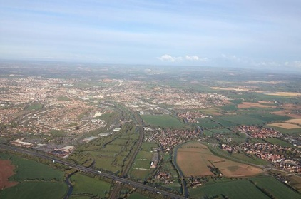 Experience: Sunrise or Sunset Champagne Hot Air Balloon Flight from Taunton For just: £125.0