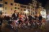 Tour privato Roma notturna: pizza e bicicletta