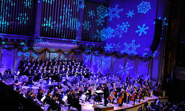 Boston Symphony Hall - Fenway - Kenmore - Audubon Circle - Longwood: Holiday Pops at Boston Symphony Hall