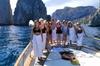Tour per piccoli gruppi dell'isola di Capri in barca da Napoli