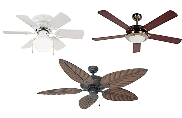 Ceiling fan buying guide ceilign fans with various lights and blade styles mozeypictures Image collections