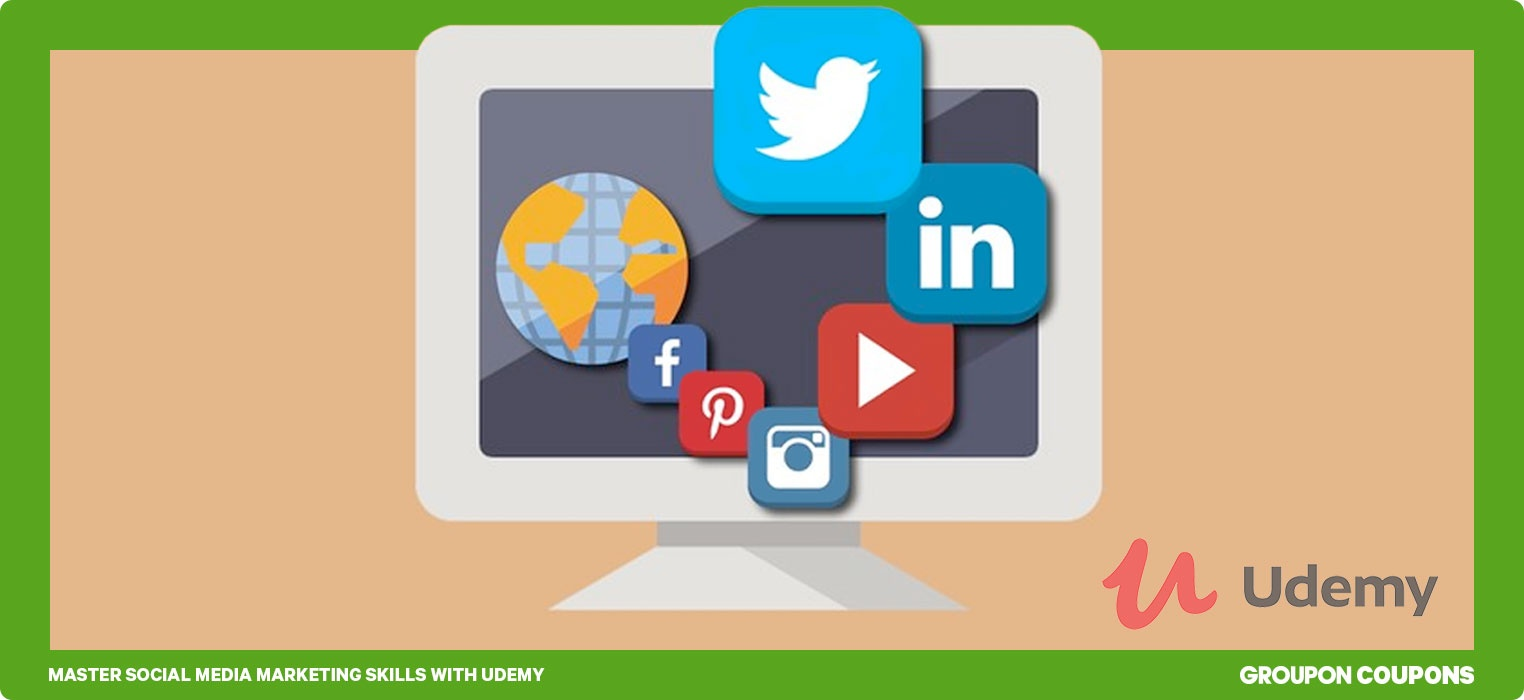 Social Media logos for online courses with Udemy