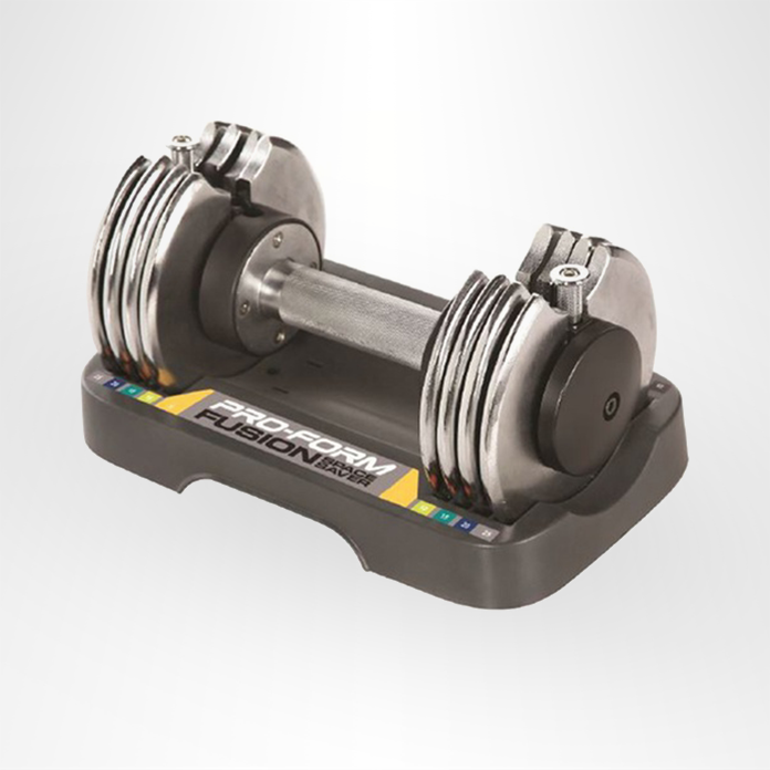 Dumbbell with adjustable weights