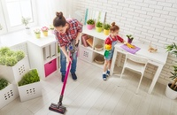 mom cleaning