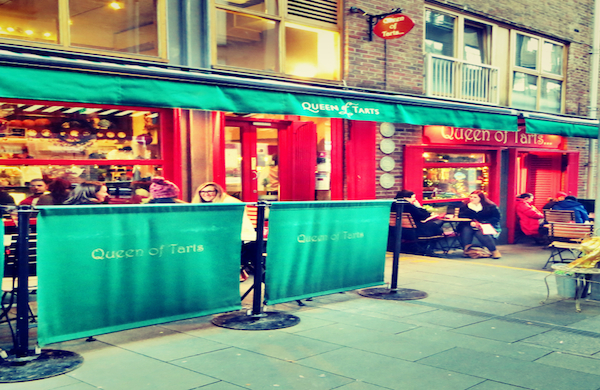 Exterior of Queen of Tarts Cafe in Dublin