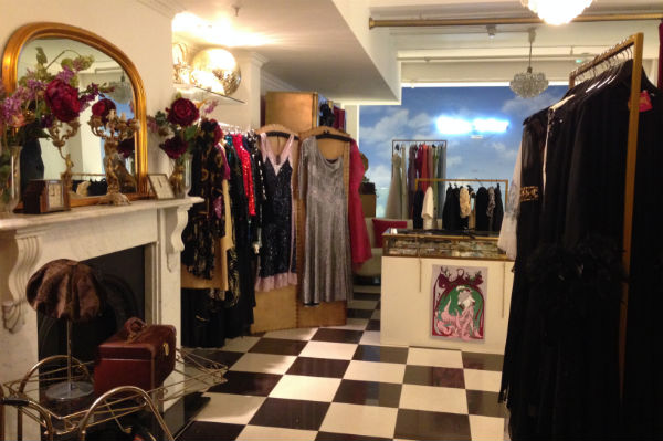 The inside of Lucy in Disguise vintage shop in London