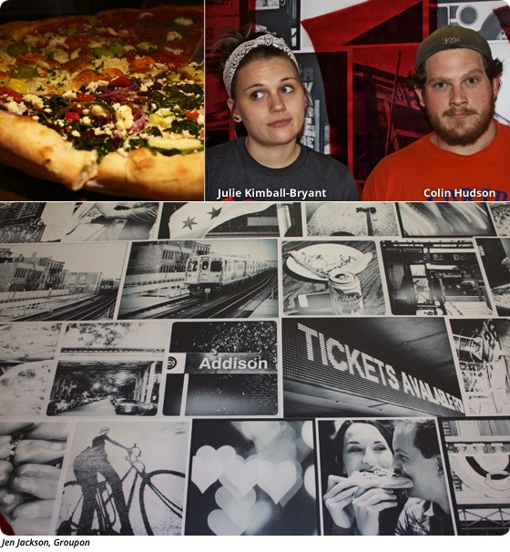 Pizza Party and Crowd Control at Dimo's Pizza in Wrigleyville