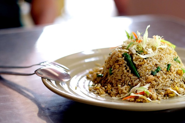 Thai fried rice is one of many authentic Thai food dishes to be found in restaurants that run Groupon deals