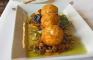 Plate by Plate: Goat-Cheese Fritters at the Dining Room at Kendall College