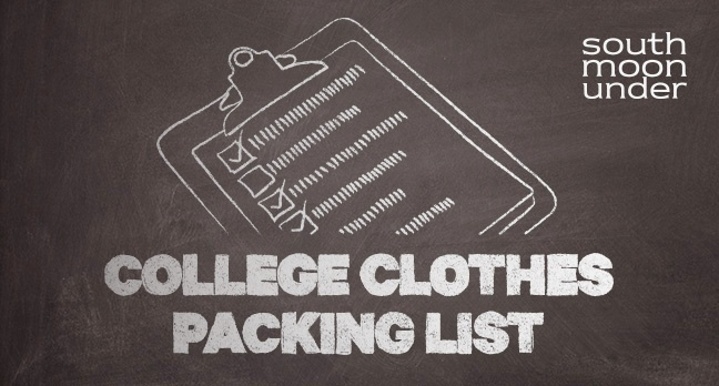College Clothes Packing List