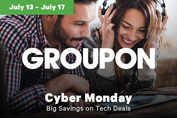 Groupon Cyber Monday in July Sales