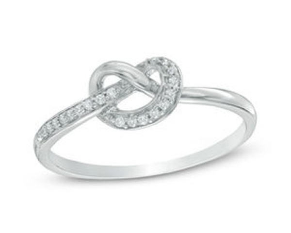 Diamond Accent Love Knot Ring