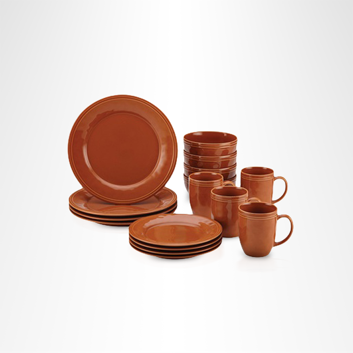 Rachael Ray stoneware set in pumpkin color