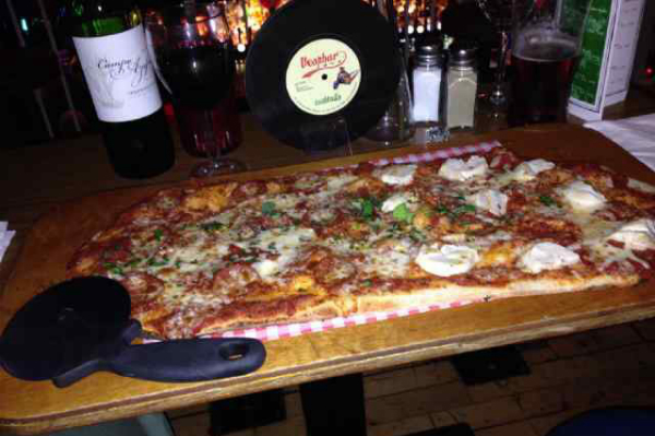 Half Metre Pizza at Vespbar