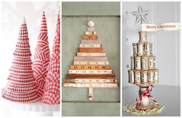 Albero di natale fai da te 5 idee originali ed economiche - Decorazioni natalizie legno fai da te ...