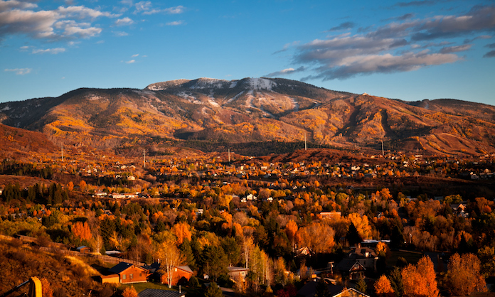 Eagle County Colorado with red and orange foliage