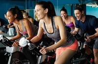 People in spinning class