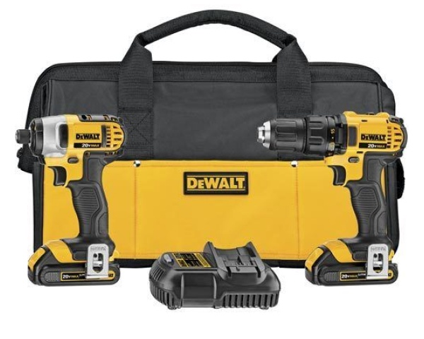 eBay certified refurbished DeWalt MAX Lithium Ion compact drill & impact combo