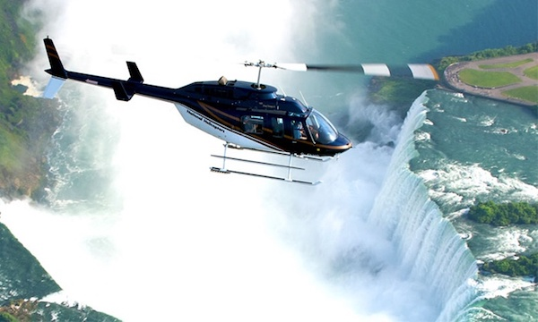 Helicopter over Niagara Falls