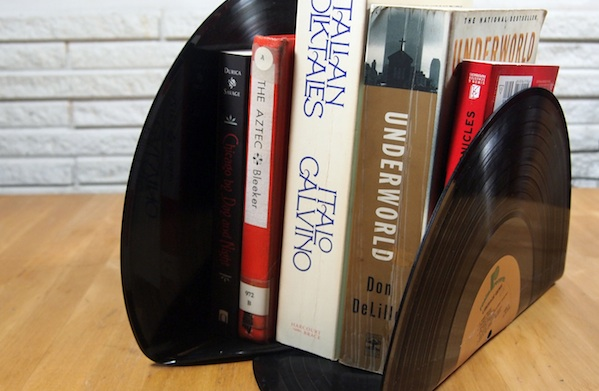 How to Make Vinyl-Record Bookends Without Burning Your Delicate Craft Hands