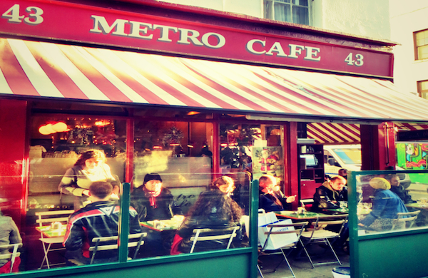 Exterior of the Metro Cafe in Dublin