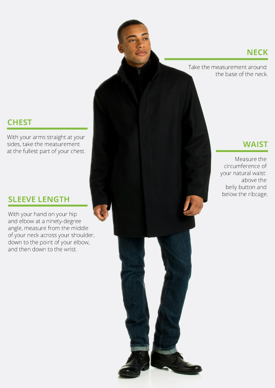 How to measure men's outerwear