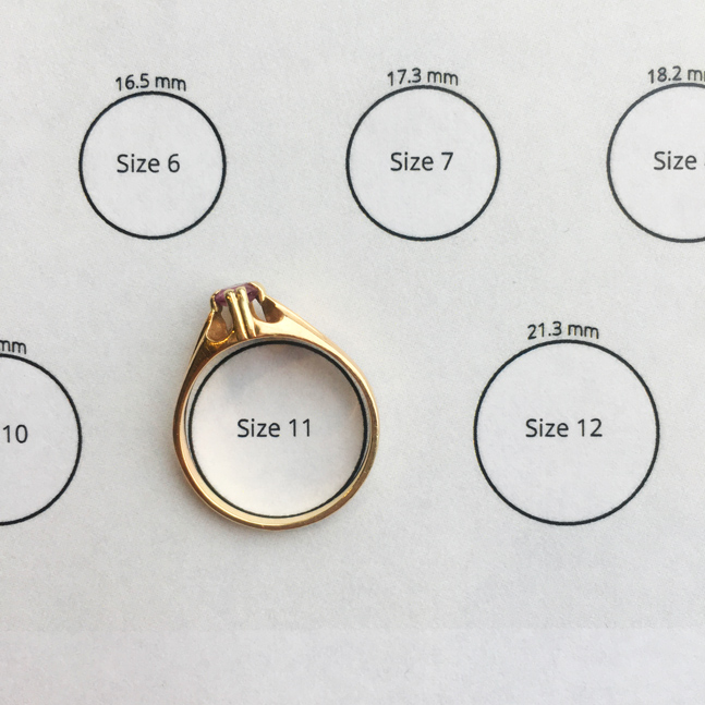 ring placed on top of diagram