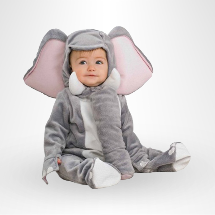 Baby in an elephant costume