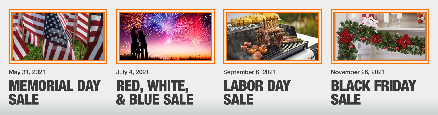 Home Depot sale names & dates