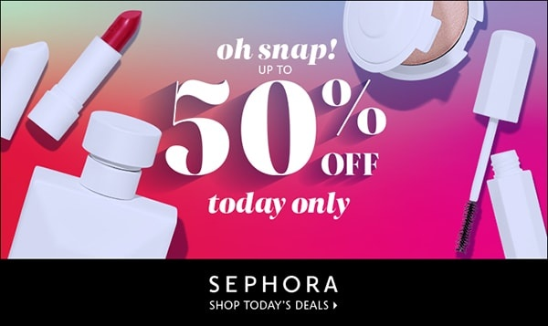 Sephora Daily Deals 50% off 1 product