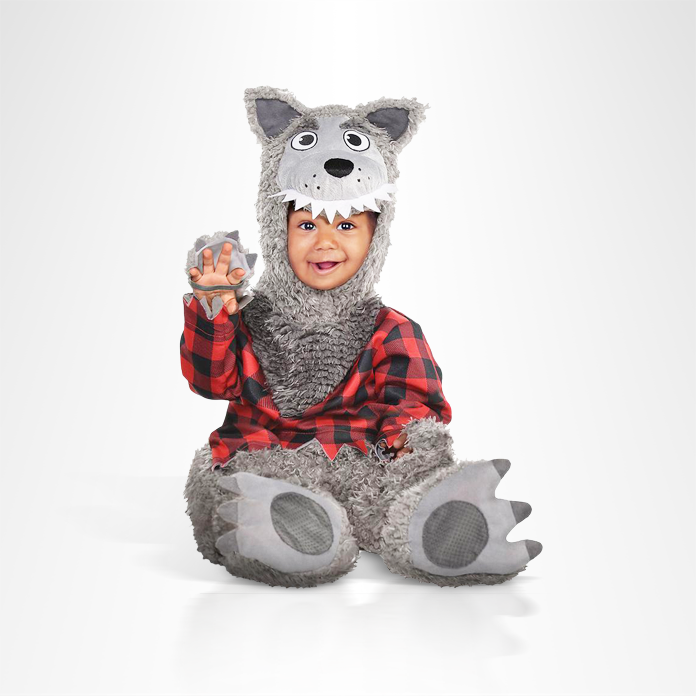 Toddler in Big Bad Wolf costume