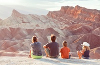 Family at Death Valley National Park