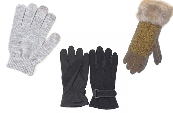 Women's glove accessories touchscreen gloves fur trim cuff gloves heat lined winter gloves