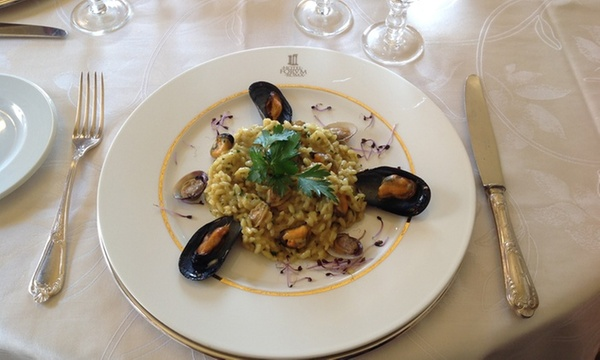 risotto al curry e frutti di mare