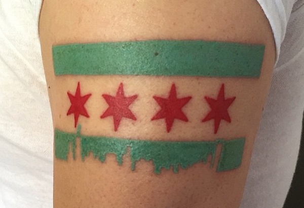 chicago flag tattoo