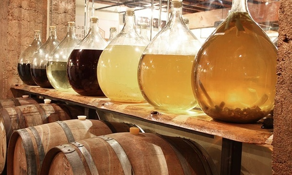 Casks and jugs of mead