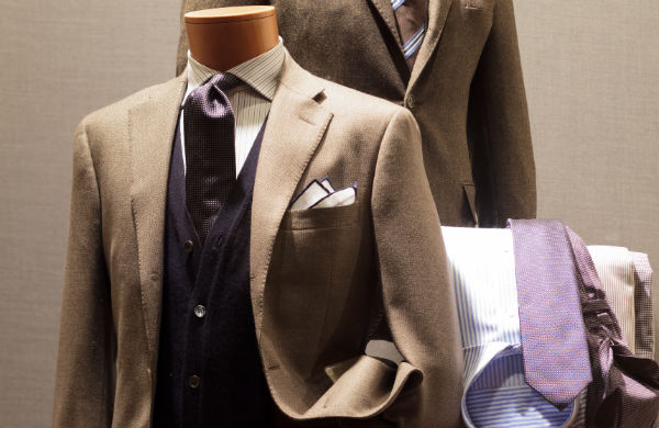 Suit on display