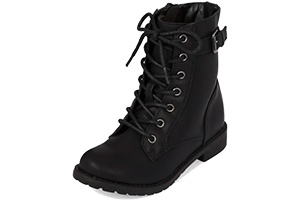 Back to School Shoes Buckle Lace-Up Boots