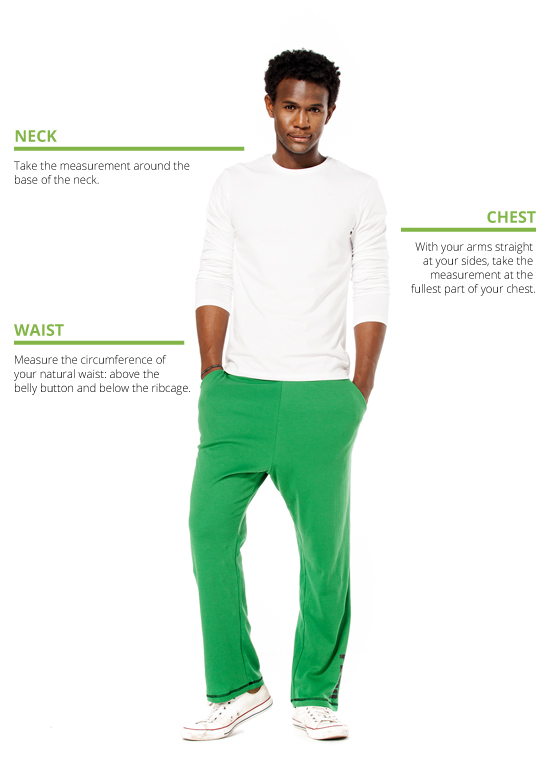 How to measure men's loungewear