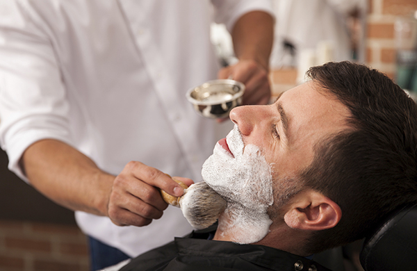 Straight-Razor Hot-Lather Shave