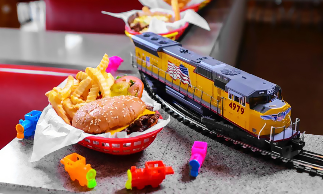2Toots Train Whistle Grill food and train