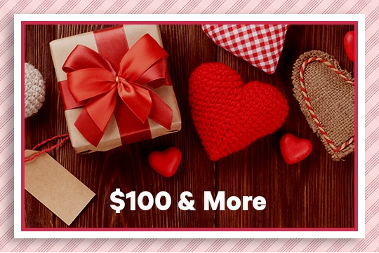 Valentine's Day gifts over $100