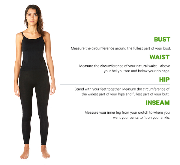 How to Measure women's sizing chart infographic