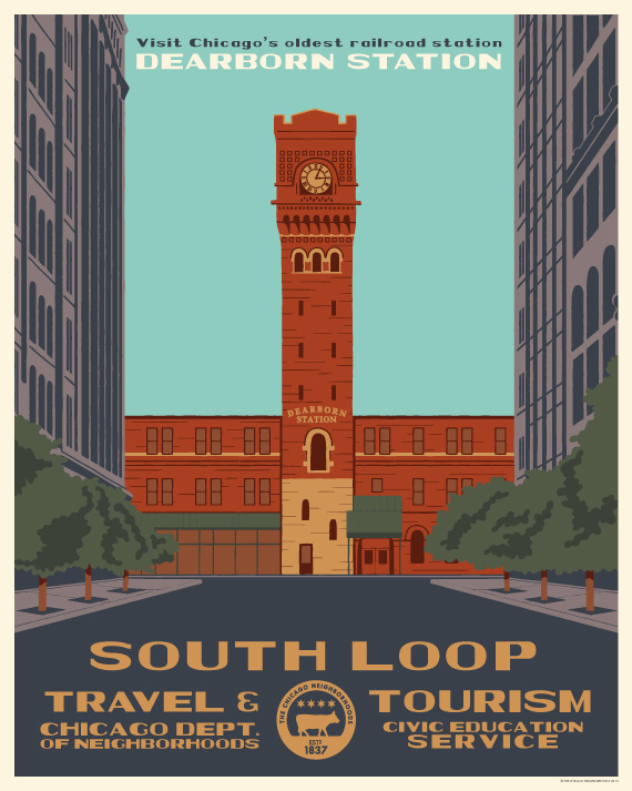 These-Vintage-Style Chicago-Tourism-Posters-Will-Show-You've-Loved-Your-Hood-Since-1930-south-loop_570c713
