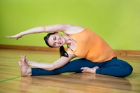 Woman performing yoga