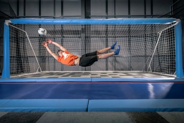 trampoline football