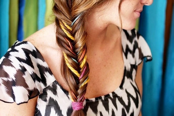 Braided hairstyle - fishtail
