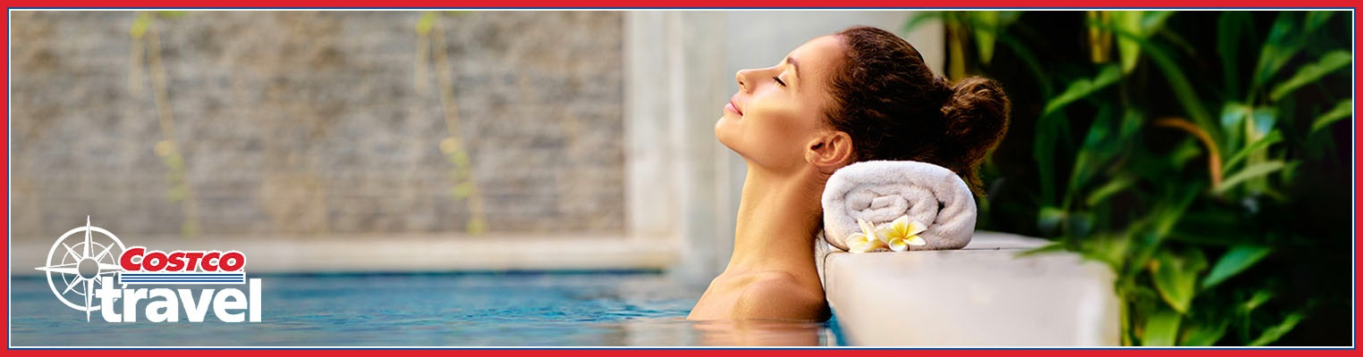 Woman relaxing in a spa pool